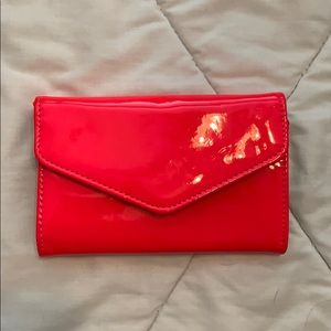 Neon Pink Small Wallet Clutch